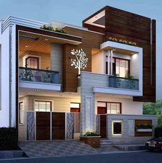 Minimal House Design, Modern Small House Design, Modern Exterior House Designs, Modern House Facades, Modern Villa Design, Latest House Designs, House Design Photos, 3 Storey House Design, Bungalow House Design