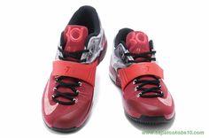 """sites de lojas de tenis KDVII-023 Nike KD VII """"Thunder"""" Vermelho Cinza"""