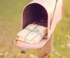 Old way to get letters. Dear future husband, this is old fashioned but I love this :) please do this