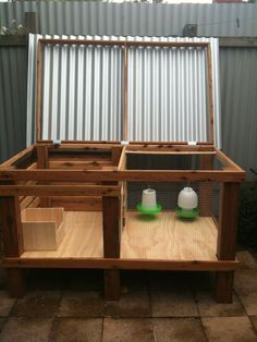 Chicken Brooder House With Cute Pen For Raising Chicks Ducklings Or Whatever Other Kind Of Backyard Chicken Coops, Chicken Coop Plans, Diy Chicken Coop, Chickens Backyard, Keeping Chickens, Raising Chickens, Raising Ducks, Chicken Pen, Chicken Lady