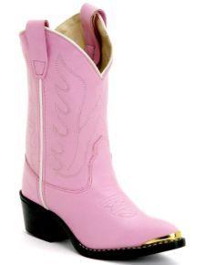 Maddie's   Old West Children's Pink Cowgirl Boots