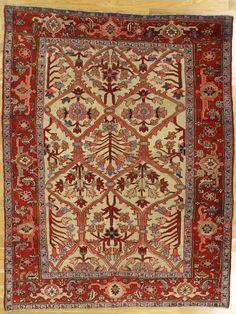 "Heriz rug from North West Iran.Age: circa 1880 Size: 6'.6""x4'.11"" (198x150 cm)."