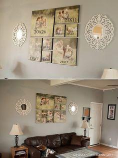 Canvas arrangement
