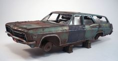 1966 Chevy Impala Wagon Pro Built Weathered Barn Find Junkyard Custom 1/25 Resin