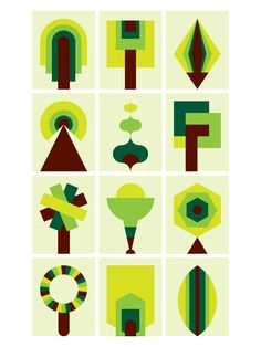 Trees x 12, Commission for Alexandra Arts Manchester. Graphic Nothing/Gary Andrew Clarke