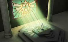 The Master Sword within the Temple of Time