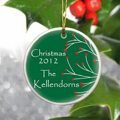 Personalized family #Chirstmas ornaments