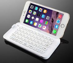 The Ultra-Thin Mini Bluetooth Keyboard for iPhone 6 Plus Cool iPhone stu… iPhone! Le mini clavier Bluetooth ultra-mince pour iPhone 6 Plus Coque Ipad, Coque Iphone 6, Cute Phone Cases, Iphone Phone Cases, Cool Iphone Cases, I Phone 6, Iphone 5se, Iphone Charger, Cell Phone Covers