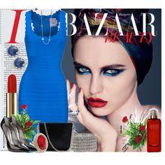 Herve Ledger Ocean Blue dress