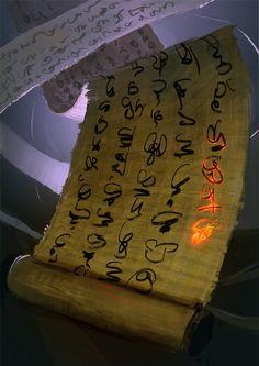 Papyrus Scroll of Ubanna by SandroRybak