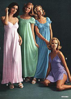 1960s sleepwear, how fabulous how pretty and so soft!