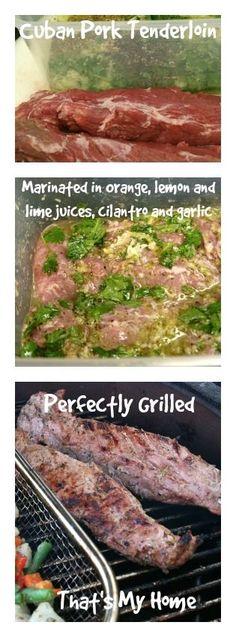 Cuban Pork Tenderloin » Recipes, Food and Cooking #cubanporktenderloin #cubanpork #Kamadogrillrecipes