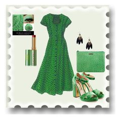"""Green Envy"" by chauert ❤ liked on Polyvore featuring Kate Spade, Rupert Sanderson and Tata Harper"