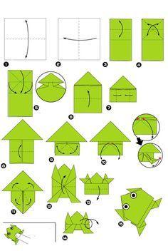 Origami des springenden Frosches