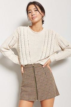 Ribbed Knit Snap-Button Crop Top | Forever21