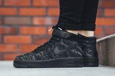 """Women's Sneakers :    Nike WMNS Air Force 1 Flyknit """"Black/White"""" – EU Kicks Sneaker Magazine  - #Sneakers https://talkfashion.net/shoes/sneakers/womens-sneakers-nike-wmns-air-force-1-flyknit-blackwhite-eu-kicks-sneaker-magazin/"""