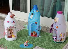 Brinquedos com materiais reciclados   ARTESANATO COM QUIANE - Paps,Moldes,E.V.A,Feltro,Costuras,Fofuchas 3D