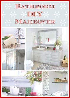 #DIY #bathroom #renovation {reveal} - Four Generations One Roof