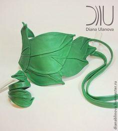 """Пояс кожаный """"Листья"""" зеленый - зелёный,однотонный,пояс женский,пояс кожаный"""