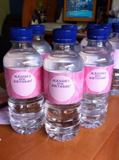 How to Make Party Water Bottle Labels - Snapguide Water Party, Diy Party, Party Ideas, Gift Ideas, Water Bottle Labels, Boy Birthday Parties, Birthday Ideas, Summer Parties, Diy Projects To Try
