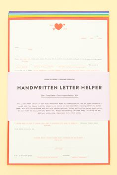 Go analog with this chic letter-writing kit!