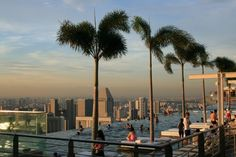 The Marina Bay Sands Infinity Pool in Singapore.