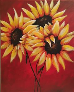 """Autumn Petals"", acrylic painting by Jonna Wormald for Cork & Canvas"