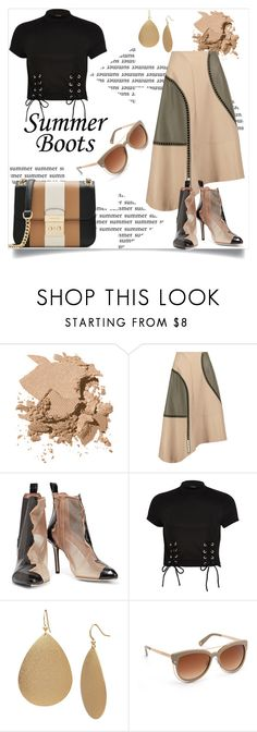 """Walk This Way: Summer Booties"" by m-illumino-di-glamour ❤ liked on Polyvore featuring Bobbi Brown Cosmetics, TIBI, Maison Margiela, River Island, Boutique+, Henri Bendel and MICHAEL Michael Kors"