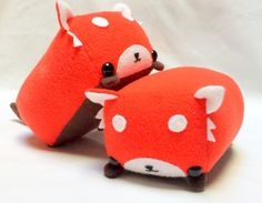Rectangle Animals Red Panda Plush MADE TO ORDER by StripedDoll