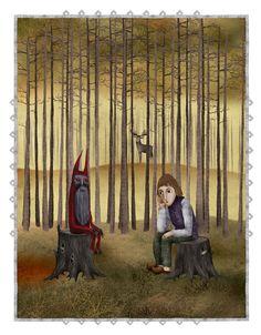Lithuanian folk tales by Marija Smirnovaite, via Behance