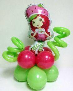 Party decorations miami balloon sculptures strawberry shortcake dark