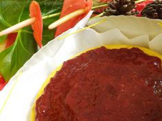 Cheesecake e geleia artesanal de morango :)