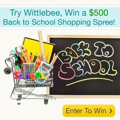 Wow, we have never done a giveaway on this scale, so get ready everybody. In order to help out with your back to school shopping, or just to feed your shopping addiction... http://blog.wittlebee.com/2012/08/08/wittlebee-back-to-school-shopping-spree/?utm_source=Pinterest