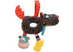 snoezige wolf knijprammelaar Ebulobo | kinderen-shop Kleine Zebra