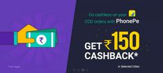 PhonePe Flipkart Loot-Get Any Flipkart Product Worth Rs.150 For Free. Flipkart offering 100% cashback upto Rs.150 unsing Phonpe App so, you can grab a product worth Rs.150 for free from Flipkart Loot Offer.  Offer Valid only on your 1st PhonePe payment for a Flipkart COD shipment delivered by...