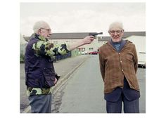 Recreated historic photographs with senior citizen models