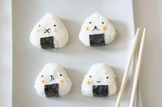 cute onigiri Kawaii Bento, Cute Bento, Picnic Menu, Bento Recipes, All Things Cute, Home Food, Dessert Drinks, Food Crafts, Food Humor