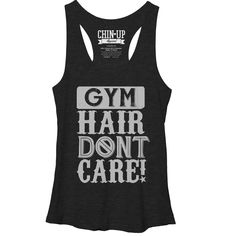 CHIN UP Women's - Gym Hair Don't Care Racerback Tank