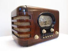 VINTAGE 1939 OLD ZENITH CLASSIC LARGE DIAL ART DECO MID CENTURY WOOD TUBE RADIO | eBay