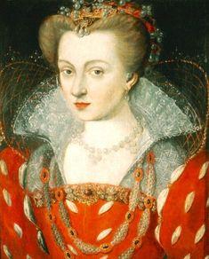 ca. 1575 Louise of Lorraine by Jean Rabel (Muzeum Książąt Czartoryskich w Krakowie - Kraków, województwo małopolskie, Poland) filled in shadows and inc. exp