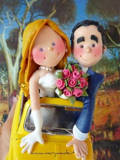 Mary's Cake Toppers are amazing works of art, all done in clay!