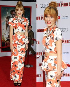 Bella Thorne at the Iron Man 3 premiere held at the El Capitan Theatre in Los Angeles on April 24, 2013