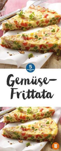 Bunte Gemüsefrittata   4 Portionen, 5 SmartPoints/Portion, Weight Watchers, fertig in 35. min
