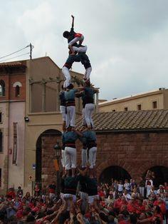 Castellers de Caldes - 4d7 - Caldes de Montbui 13/10/2012