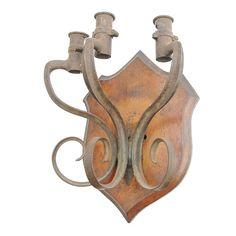 Подсвечник настенный декоративный из штыков (Западная Европа) купить за 19500 руб в антикварном магазине Землянка