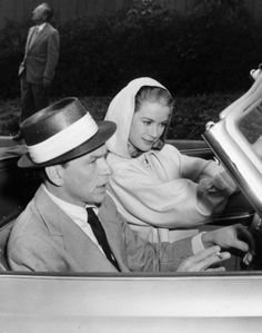 Grace Kelly and Frank Sinatra on the set of High Society, 1956