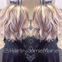 70 Devastatingly Cool Haircuts for Thin Hair - Balayage Haare Blond Kurz Medium Hair Cuts, Medium Hair Styles, Curly Hair Styles, Haircut Medium, Haircut Short, Thin Hair Haircuts, Bob Hairstyles, Trendy Hairstyles, Layered Hairstyles
