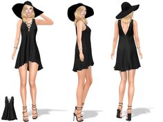 Daily new release | marketplace.secondlife.com/p/Full-Perm-L… | Flickr Perm, Lace Up, V Neck, Black, Dresses, Fashion, Gowns, Black People, Fashion Styles