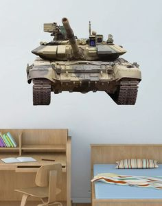 cik73 Full Color Wall decal Tank military equipment bedroom children's room