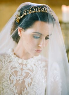 Gorgeous Crown/Tiara + Drop Veil
